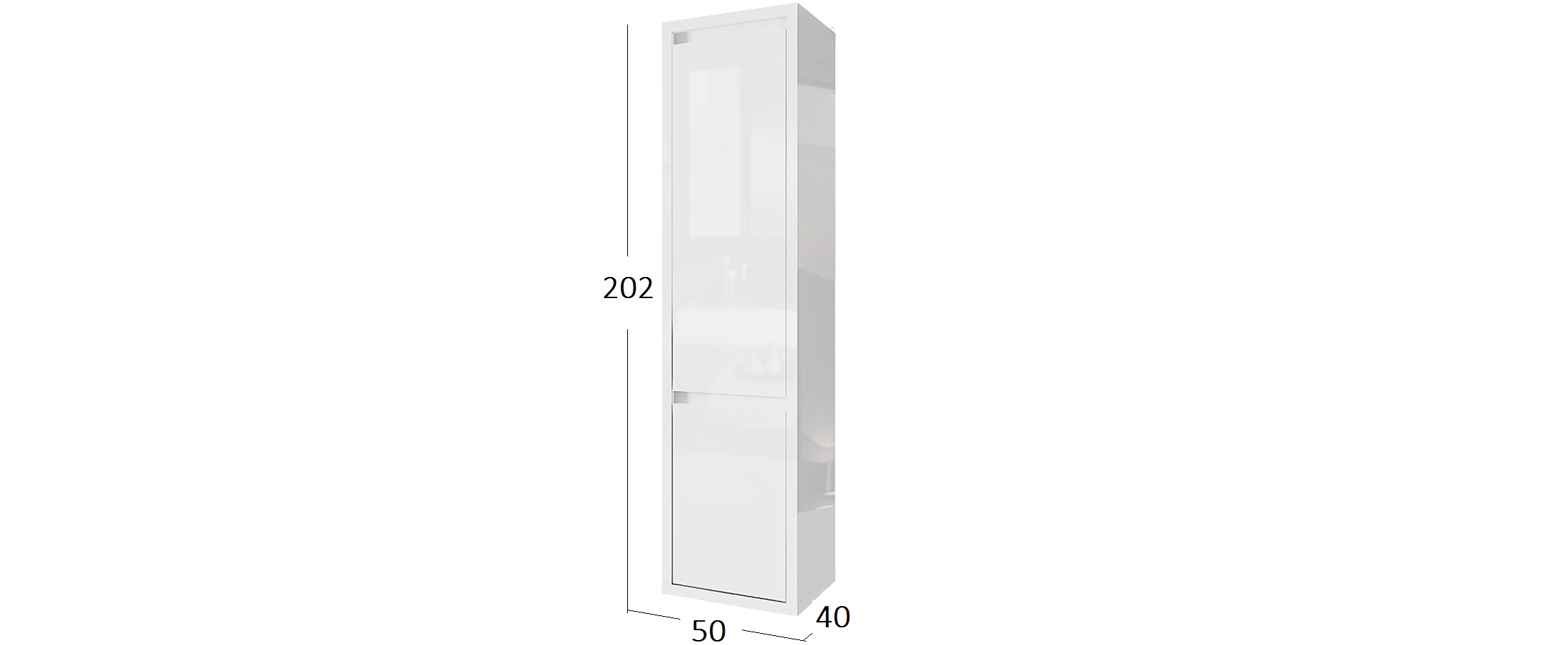 шкаф Норден глянец- купить в Санкт-Петербурге в интернет-магазине MOON TRADE Д001053