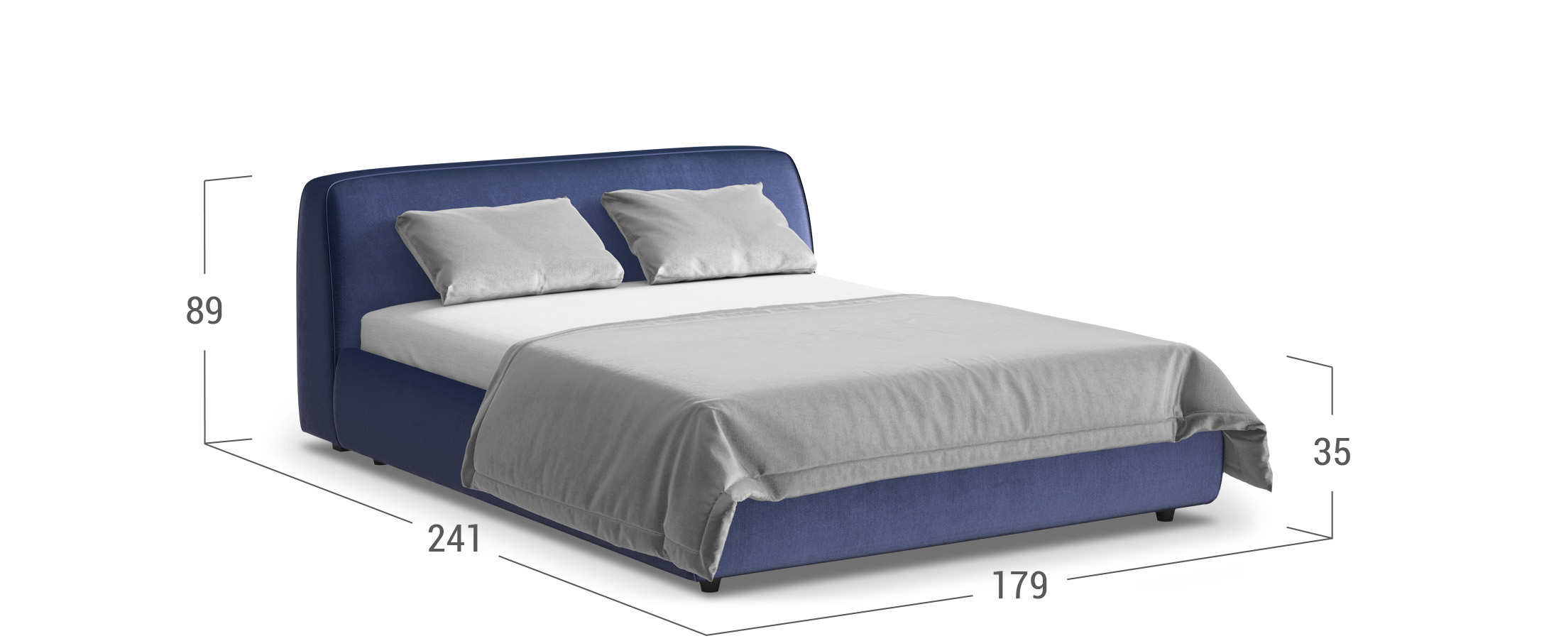 Кровать двуспальная MOON 1008