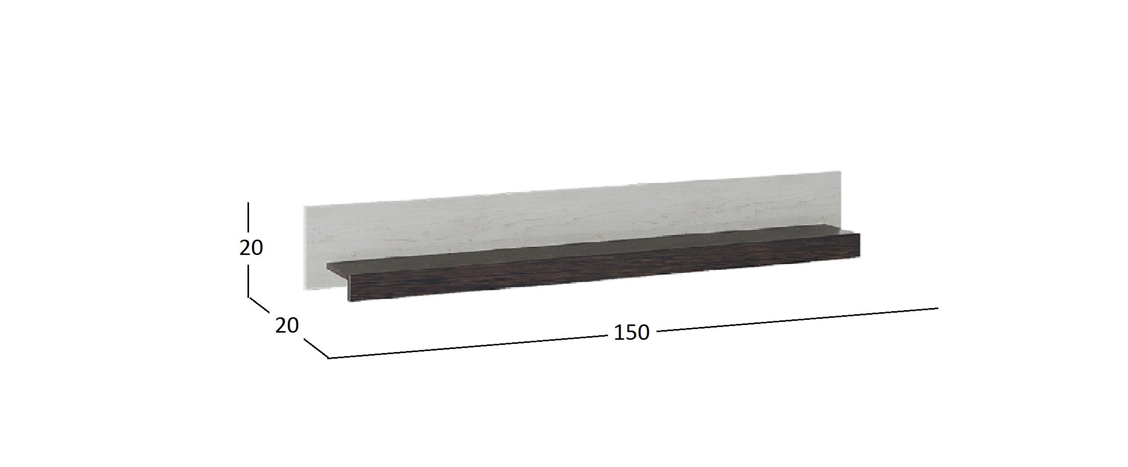 Полка Навесная Поланд Модель 941