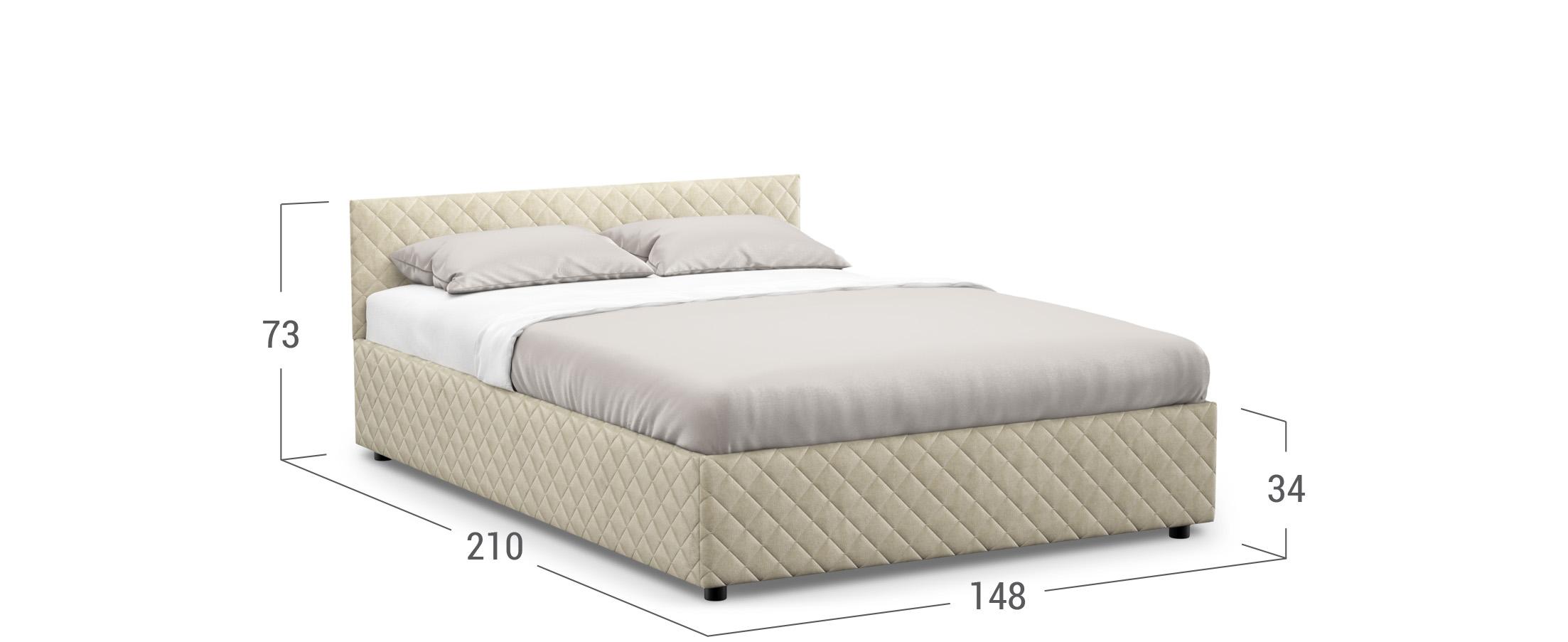 Кровать двуспальная Prima Style New 140х200 Модель 1221